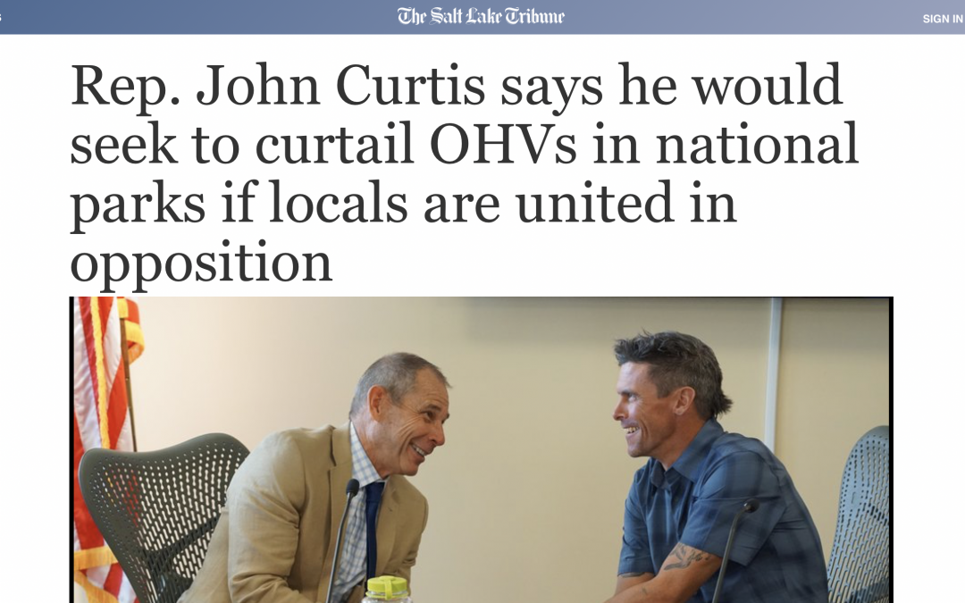 Representative John Curtis is Fighting Against Us… Again